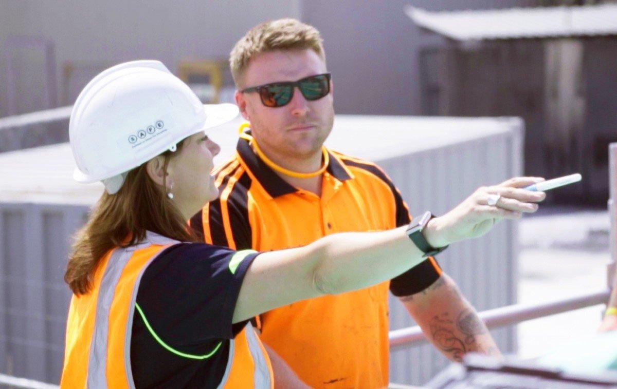 manager explaining process